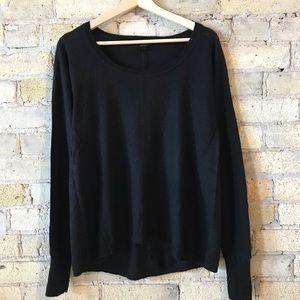 Club Monaco black alpaca/nylon/wool blend sweater